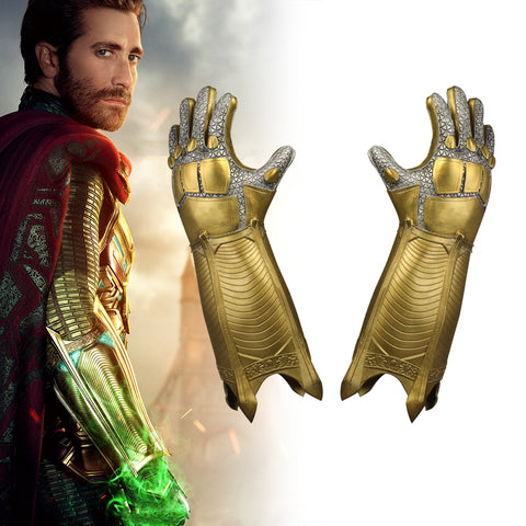 Cosplay SpiderMan Far From Home Mysterio Gloves Latex Halloween A pair of Superhero Gloves Props