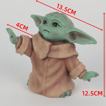 Load image into Gallery viewer, Star Wars The Mandalorian The Child Baby Yoda Action Figure Collection Toy Resin Star Wars Accessories Prop - bfjcosplayer