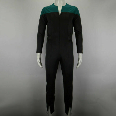 Star Trek Deep Space Nine Blue Uniform Jumpsuit Cosplay Adult Male Costumes New - bfjcosplayer