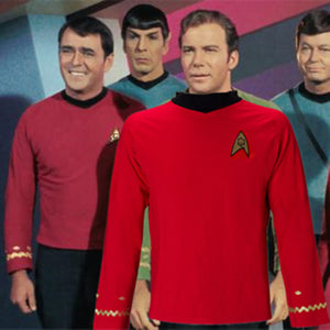 Cosplay Star Trek TOS The Original Series Kirk Shirt Uniform Costume Halloween Red Costume - bfjcosplayer