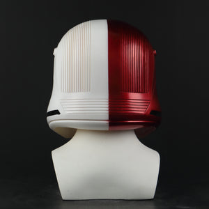 Movie Star Wars 9 The Rise of Skywalker Sith Trooper Red/White PVC Helmet Cosplay Halloween Mask - bfjcosplayer