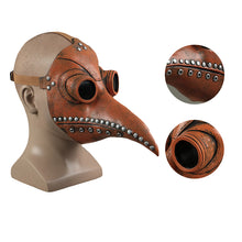 Load image into Gallery viewer, Steampunk Bird Beak Plague Doctor Gothic Latex Helmet Halloween Party Prop - bfjcosplayer