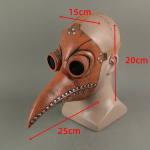 Steampunk Bird Beak Plague Doctor Gothic Latex Helmet Halloween Party Prop - bfjcosplayer