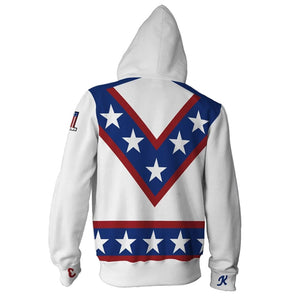 Stunt star Evel Knievel 3D sweater zipper hooded cosplay costume - bfjcosplayer