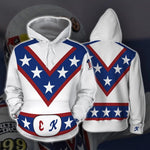 Load image into Gallery viewer, Stunt star Evel Knievel 3D sweater zipper hooded cosplay costume - bfjcosplayer