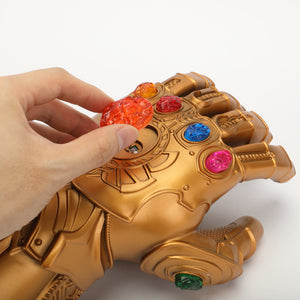 Avengers: Endgame Thanos Infinity Gauntlet Gloves Stone Movable Led Light Infinity War Glove for kids - bfjcosplayer