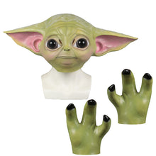 Load image into Gallery viewer, The Mandalorian Baby Yoda Grogu Cosplay Helmet Glove Halloween Props