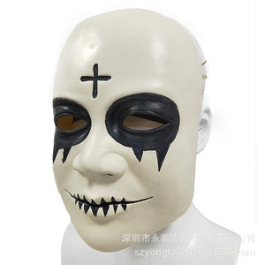 The Purge Smiley Cross Latex Mask Movie cosplay Horror Halloween props - bfjcosplayer