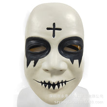 Load image into Gallery viewer, The Purge Smiley Cross Latex Mask Movie cosplay Horror Halloween props - bfjcosplayer