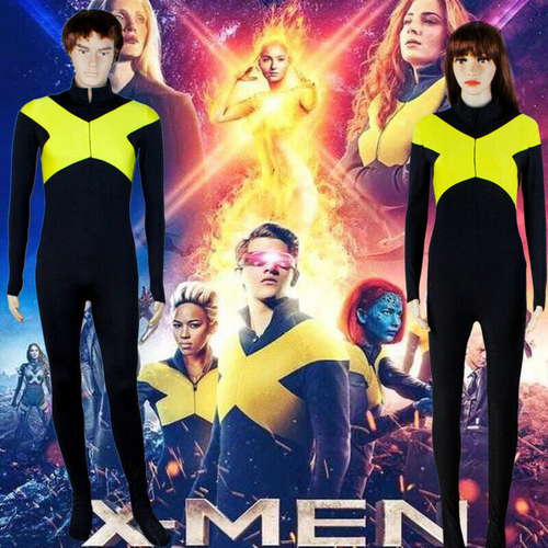 2019 Movie X-Men Dark Phoenix Cosplay Costume Superhero Zentai Suit For Adult and Kids Cos - bfjcosplayer