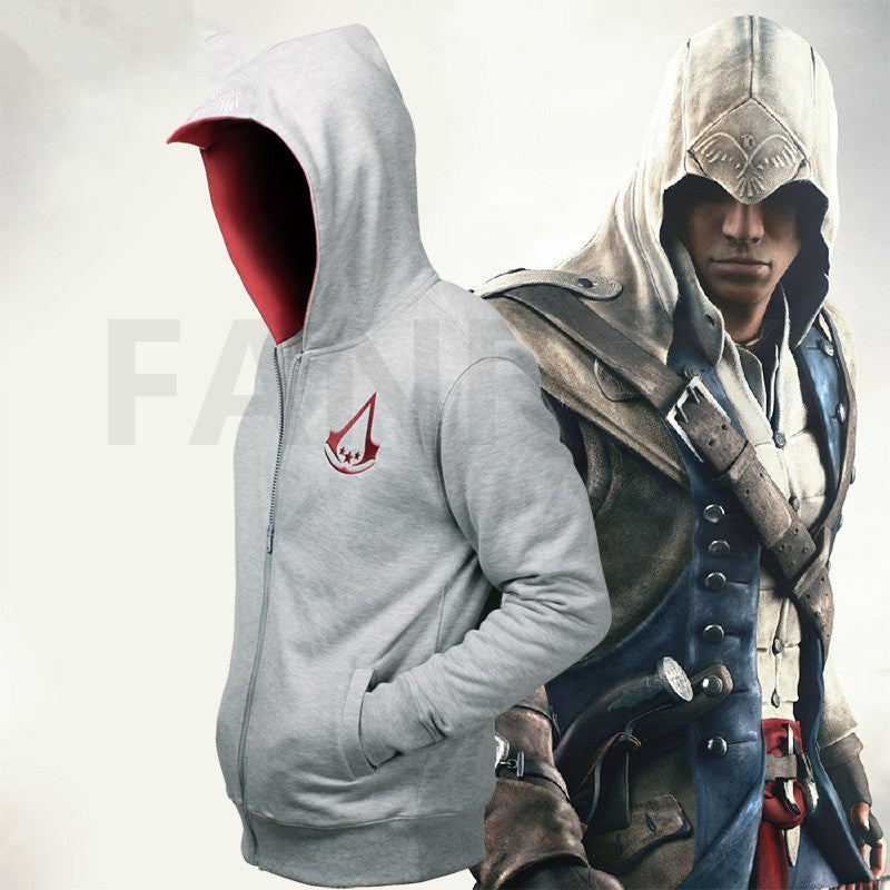 Assassin's Creed III Connor Logo Zip Up Hoodies - bfjcosplayer