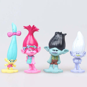 Cake decoration Ornaments  Figure Model Doll Toys Child Gift Cute Trolls Set of 12 dolls