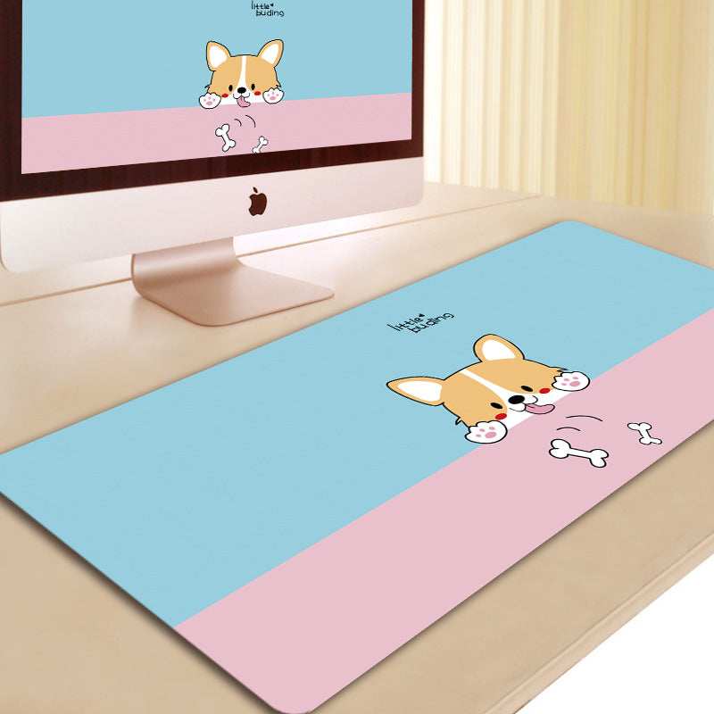 Dog cosplay 3D Printing Mouse Pad Computer Desk Mat For Gaming Unicorn Pink