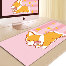 Load image into Gallery viewer, Dog cosplay 3D Printing Mouse Pad Computer Desk Mat For Gaming Unicorn Pink