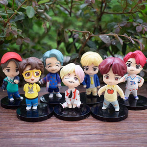 BTS Ornaments  Figure Model Doll Toys Child Gift Cute Set of 7 dolls Bangtan Boys