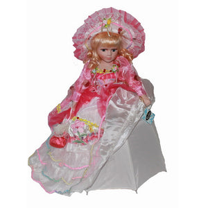 Palace retro style skirt Scotland Ceramic Ornaments  Figure Model Doll Toys Child Gift Cute