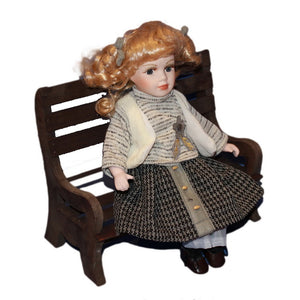 Girl Chair Doll Ornaments  Figure Model Doll Toys Child Gift Cute Princess Europe Handicrafts