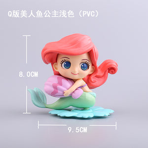 Disney Princess Anna Elsa Ornaments  Figure Model Doll Toys Child Gift Cute Alice in Wonderland