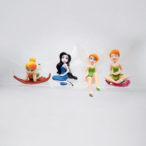 Tinker Bell Ornaments  Figure Model Doll Toys Child Gift Cute Set of 6 dolls