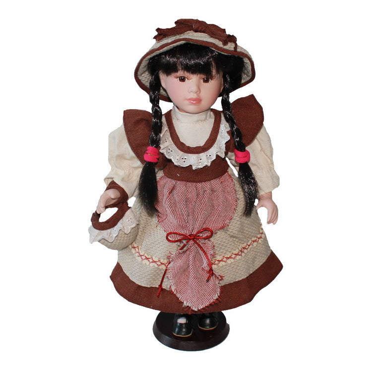 Shepherdess Home Decoration Scotland Ceramic Ornaments  Figure Model Doll Toys Child Gift Cute
