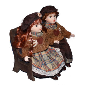 Chair Doll Ornaments  Figure Model Doll Toys Child Gift Cute Princess Europe Handicrafts