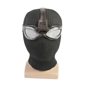 New Spider-Man Far From Home Stealth Suit Mask Latex Cosplay Spiderman Noir Black Mask with Goggles Glasses Halloween Party Prop - bfjcosplayer