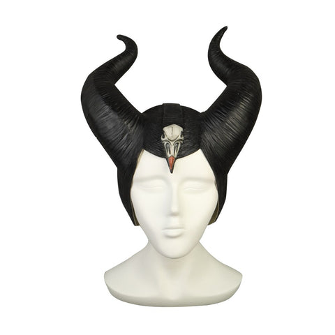 New 2019 Maleficent 2 Hat Deluxe Horns Evil Black Queen Headpiece Latex Cosplay Angelina Jolie Halloween Party Props - bfjcosplayer