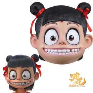 Cosplay Masks Latex 2019 Chinese Movie Ancient Fairy Tale Story Ne Zha Mask Cosplay Boys Mask Halloween Party Prop - bfjcosplayer