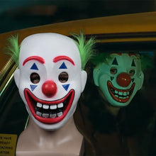 Load image into Gallery viewer, 2019 Joker Pennywise Mask Stephen King It Chapter Two 2 Horror Cosplay Latex Masks Green Hair Clown Halloween Party Costume Prop - bfjcosplayer