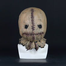 Load image into Gallery viewer, Cosplay Scarecrow Mask Scary Horror Costume Accessory Adult Halloween Mask Latex Props - bfjcosplayer