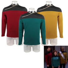 Load image into Gallery viewer, Star Trek TNG Captain Picard Red Uniform Top Jacket Voyager DS9 Yellow Cosplay Costumes Halloween Party Prop - bfjcosplayer