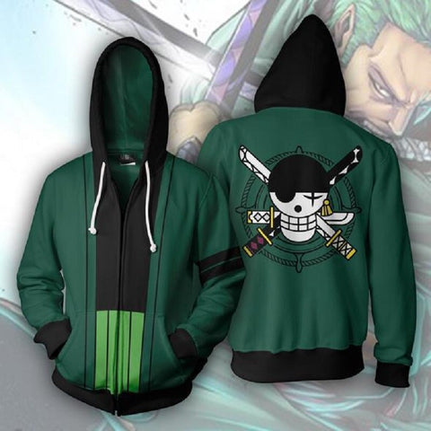 Cosplay Anime ONE PIECE Roronoa Zoro 3D Printed Hooded Hoodies Sweatshirts for Men Spring Autumn ackets Cardigan Coat Tops Prop - bfjcosplayer