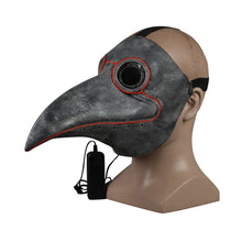 Load image into Gallery viewer, Steampunk Plague Bird Doctor Cosplay Mask Plague doctor Masks Latex LED Funny Event Holiday Halloween Party Costume Props - bfjcosplayer