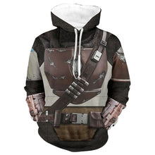 Load image into Gallery viewer, Star Wars The Mandalorian Hoodie Cosplay Costume Sweater Coat Jacket Pedro Pascal Mandalorian Soldier Warrior Star Wars Prop - bfjcosplayer