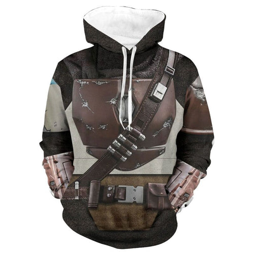 Star Wars The Mandalorian Hoodie Cosplay Costume Sweater Coat Jacket Pedro Pascal Mandalorian Soldier Warrior Star Wars Prop - bfjcosplayer