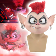 Load image into Gallery viewer, Trolls World Tour 2 Cosplay Queen Barb Punk Mask Latex Masquerade Party Mask Props - bfjcosplayer
