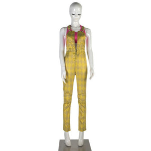 Birds of Prey Suicide Squad Harley Quinn Cosplay Costumes Joker Vest Jumpsuit Golden Yellow Romper Overalls Halloween Suit - bfjcosplayer