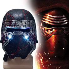 Load image into Gallery viewer, Kylo Ren Helmet Led Light Cosplay Star Wars 9 The Rise of Skywalker Latex Mask Helmets Masks Halloween Party Prop - bfjcosplayer