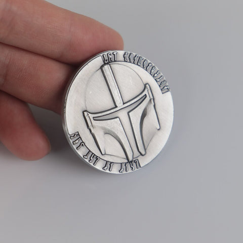Star Wars The Mandalorian Coin Bounty Hunter Boba Fett Coin Collection Props New - bfjcosplayer