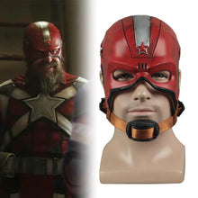 Load image into Gallery viewer, Cosplay Black Widow Red Guardian Mask Superhero Captain Aleksey Helmet Latex Maska Halloween Party Prop - bfjcosplayer