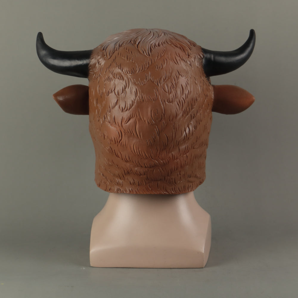 Animal Mask Cosplay Cow Brown Mask Animals Cow Masks Masquerade Halloween Party Funny Dressed Costume Prop - bfjcosplayer