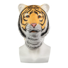 Load image into Gallery viewer, Animal Mask Cosplay Tiger Yellow Mask Animals Tigers Masks Masquerade Halloween Party Funny Dressed Costume Prop - bfjcosplayer