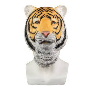Animal Mask Cosplay Tiger Yellow Mask Animals Tigers Masks Masquerade Halloween Party Funny Dressed Costume Prop - bfjcosplayer