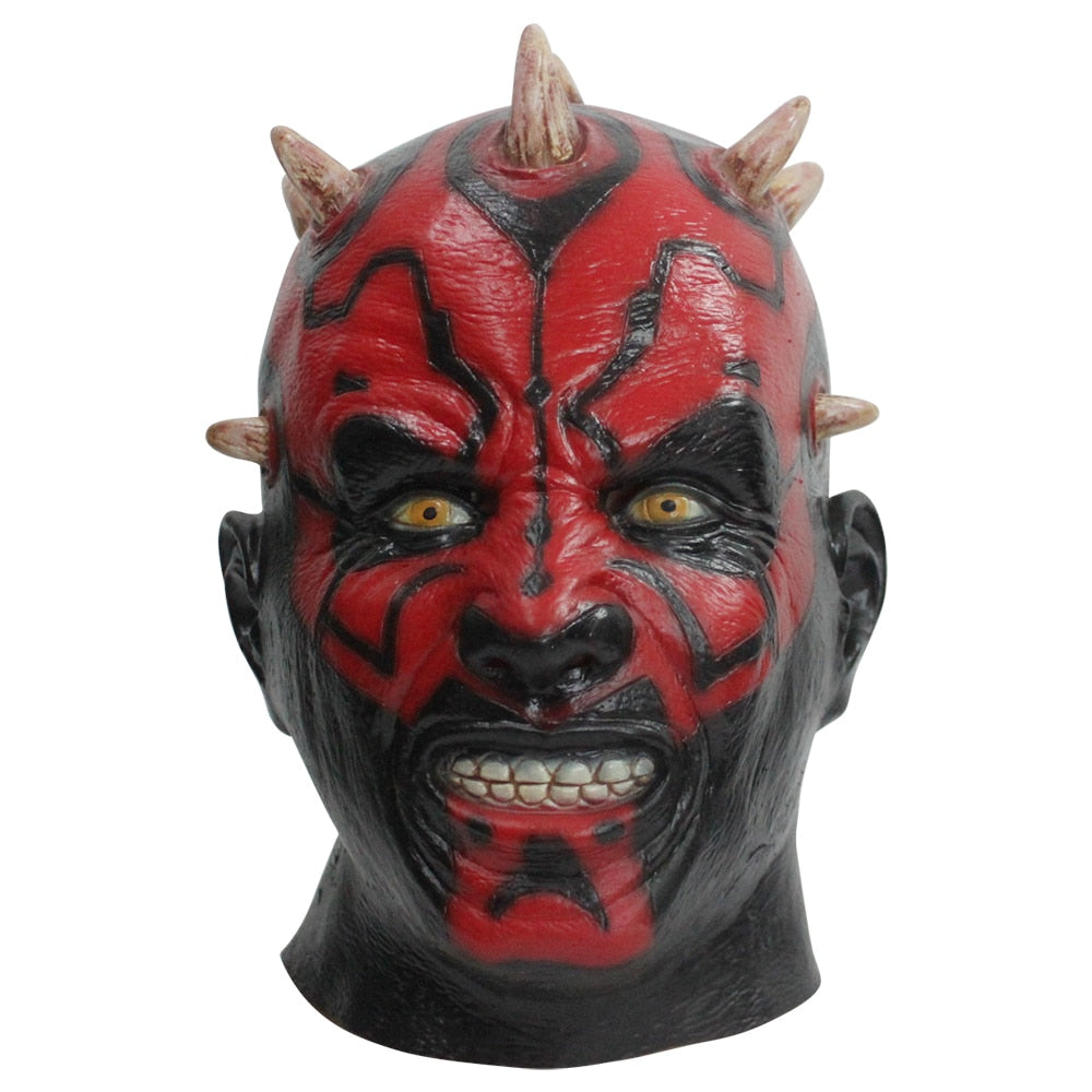 Latex Darth Maul Mask Star Wars Costume Halloween Mask Party Mask Cosplay - bfjcosplayer