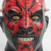 Load image into Gallery viewer, Latex Darth Maul Mask Star Wars Costume Halloween Mask Party Mask Cosplay - bfjcosplayer