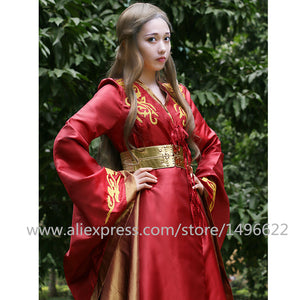 Custom Made Queen Cersei Lannister Red Exclusive Dress Game Of Thrones Costume For Adult Women Halloween Cosplay Costume - bfjcosplayer