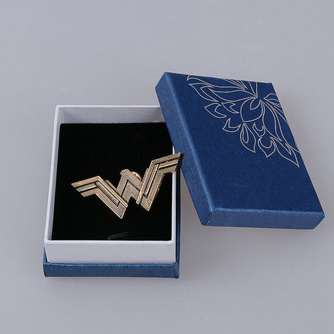 2017 Movie Wonder Woman Badge Justice League Superhero Diana Prince Metal Brooches Pin Halloween Cosplay Accessories Prop Woman - bfjcosplayer