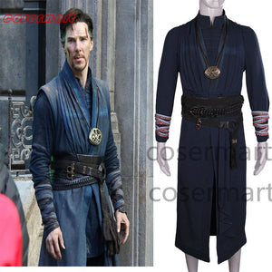 2016 Marvel Movie Doctor Strange Costume Ring Necklace Cosplay Steve Full Set Costume Robe Halloween Costume - bfjcosplayer