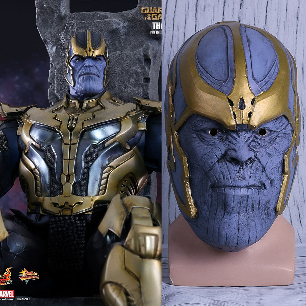 Avengers: Infinity War Thanos Mask Cosplay Full Head Latex Halloween Party Prop - bfjcosplayer