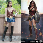 2017 Batman v Superman Dawn of Justice League Wonder Woman Costume Cosplay Woman's Superhero Diana Prince Halloween - bfjcosplayer